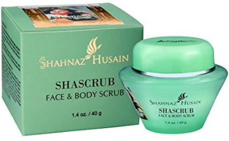 Shahnaz Husain Shascrub Herbal Ayurvedic Face And Body Scrub Latest International Packaging(40 g)