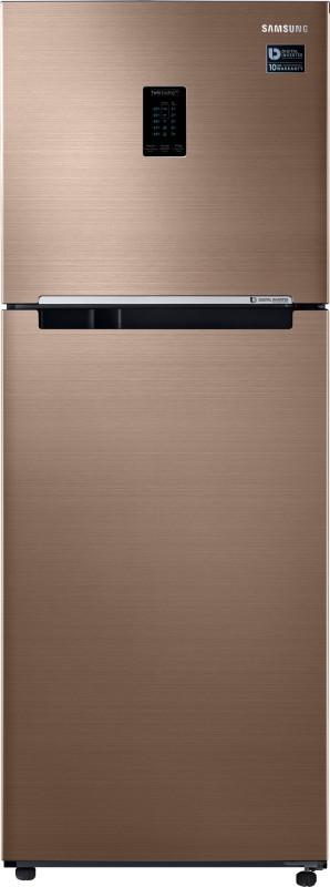 Samsung 324 L Frost Free Double Door Top Mount 3 Star Convertible Refrigerator(Refined Bronze, RT34M5538DP/HL)