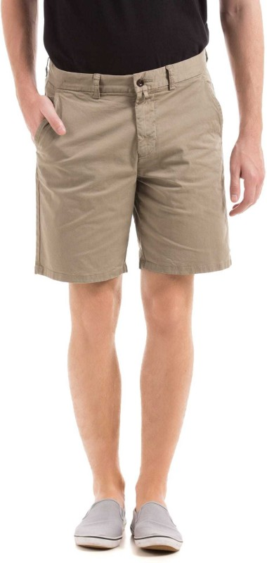 Gant Solid Mens Beige Regular Shorts