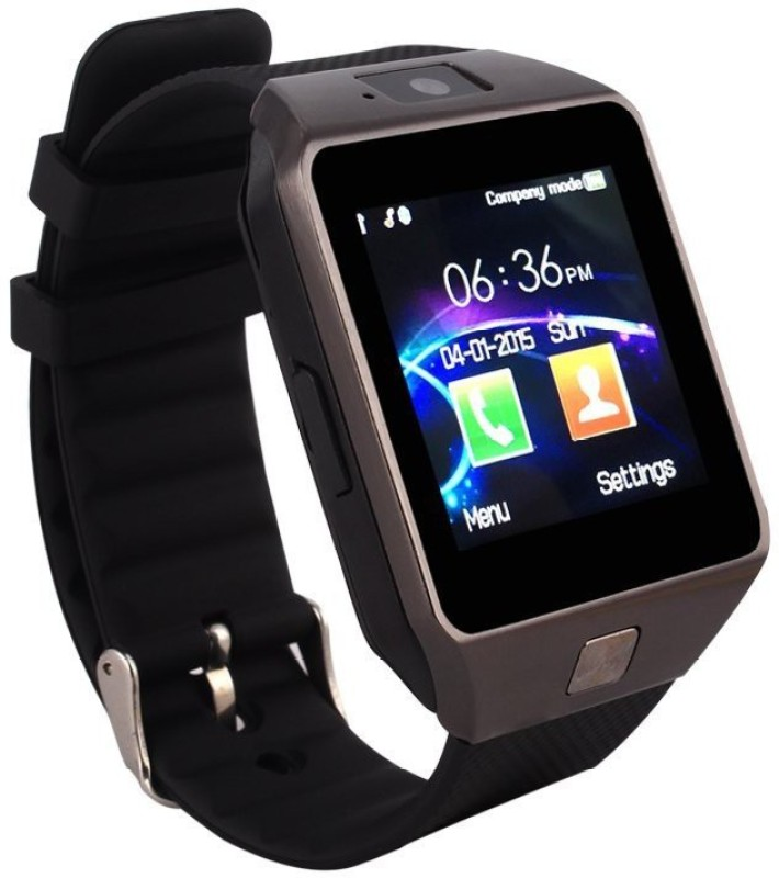 Wonder World ™ Bluetooth Smart Watch Single SIM Phone with Dialer Camera Sleep Monitor OGS Screen Black Smartwatch(Black Strap Free Size)