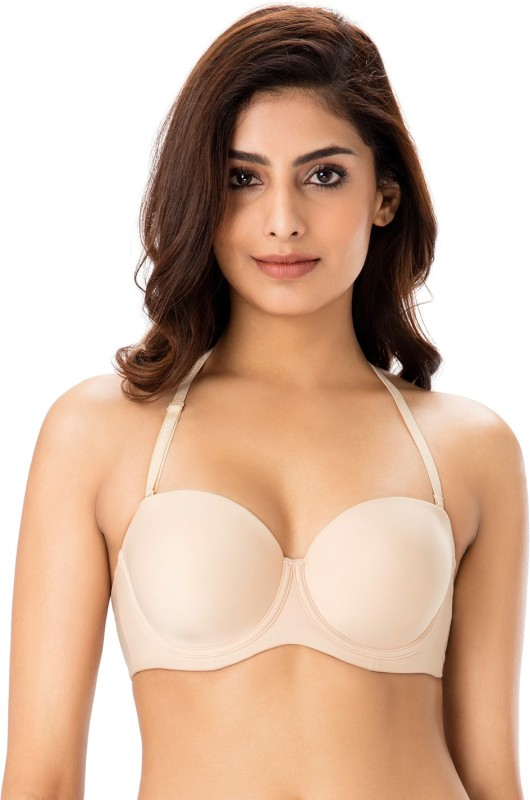 PrettySecrets Women Balconette Lightly Padded Bra(Beige)