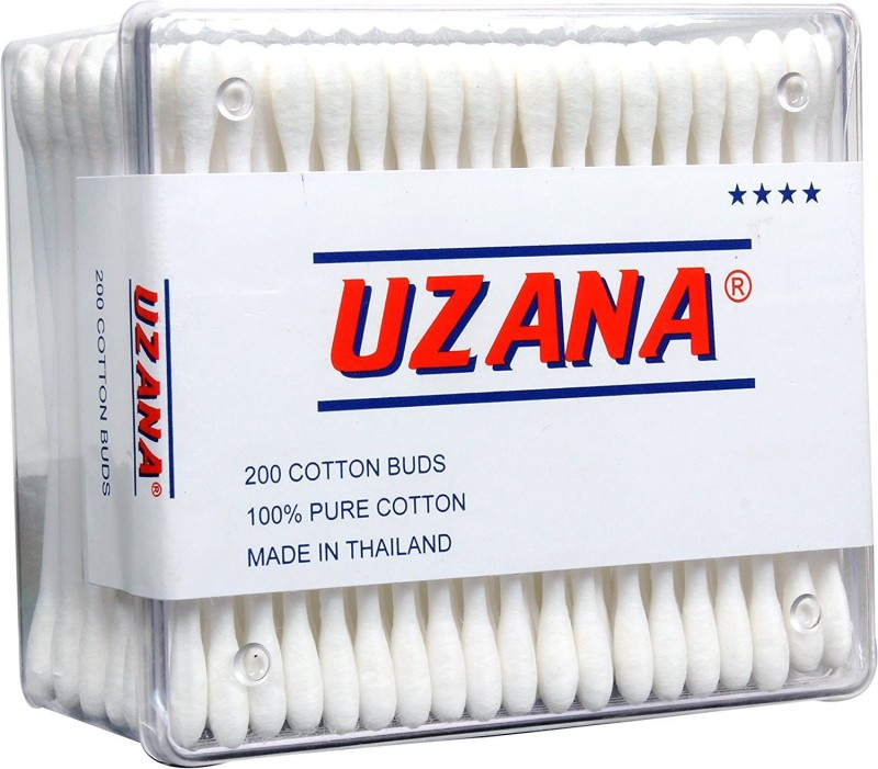 Uzana Buds - 200 Cotton Buds made with 100% Cotton (colour Assorted)(200 Units)