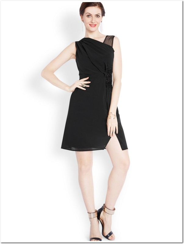 Park Avenue Women A-line Black Dress