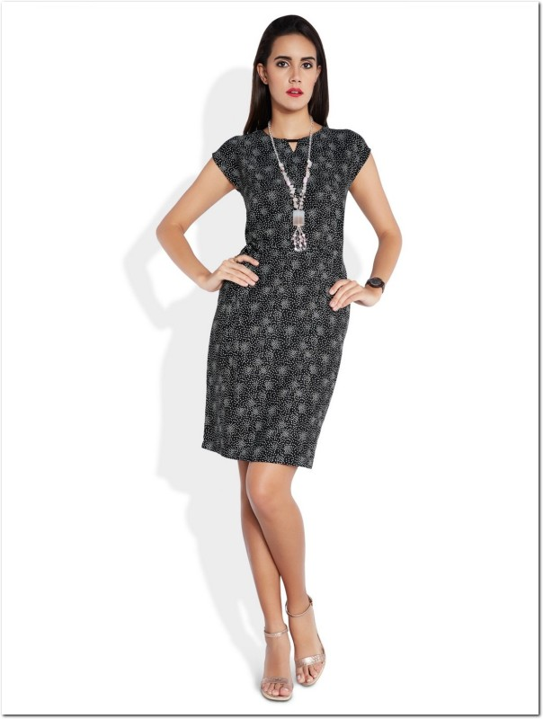 Park Avenue Women Bodycon Black Dress