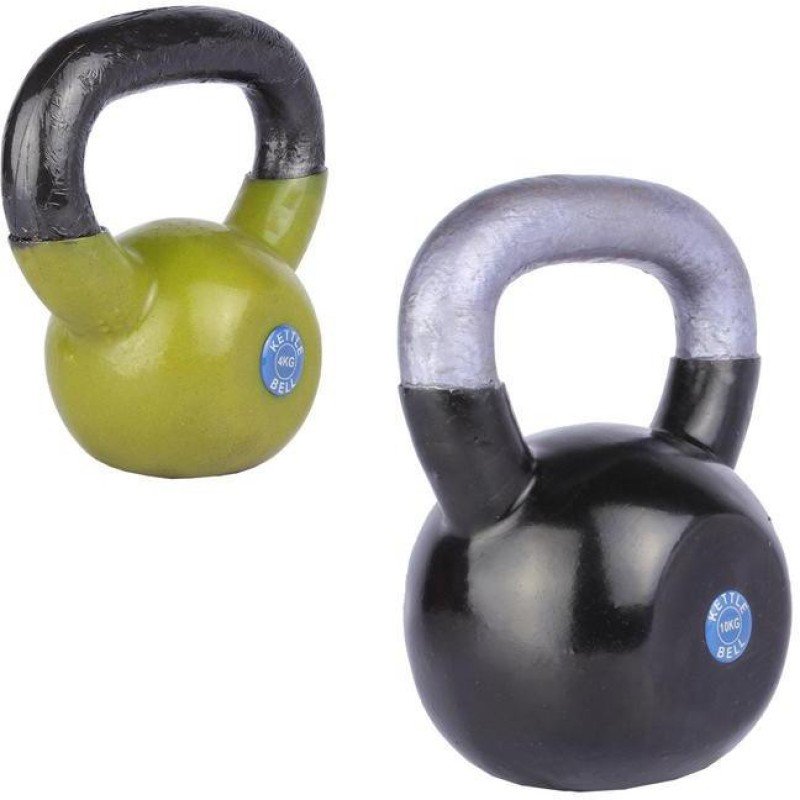 Royal 4 Kg 1 Pc Kettle Bell with 10 Kg 1 Pc Kettle Bell Home Gym Combo(0 - 20 kg)