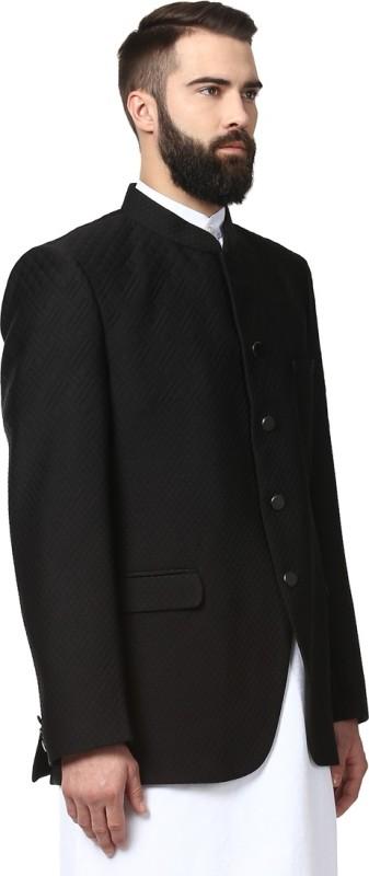 Ethnix Sleeveless Solid Mens Jacket