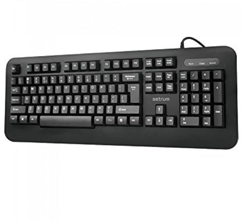 Astrum KB100 Classic Wired Keyboard 104keys Indian, Black Color Desktop Keyboard Replacement Key
