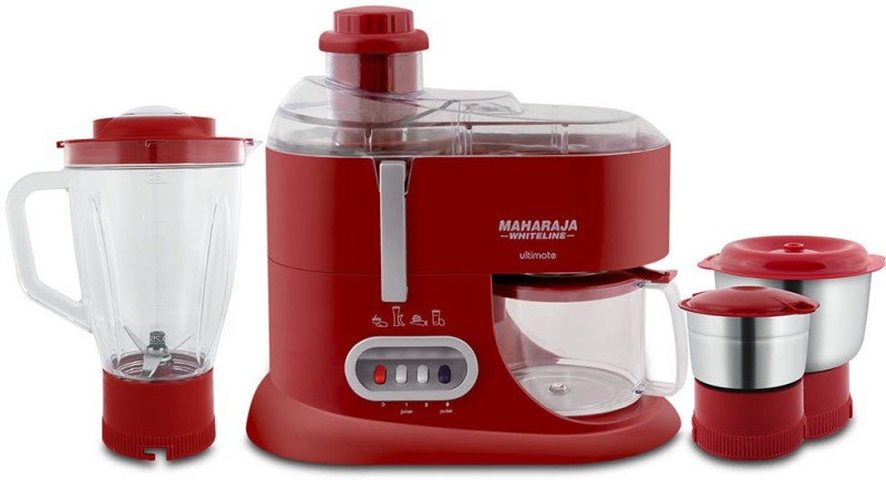 Maharaja Whiteline ULTIMATE (JX-101) 550 Juicer Mixer Grinder(Red, 3 Jars)