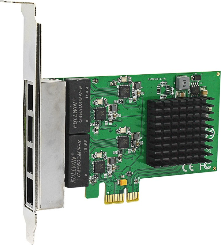 TAG PCI-E 1X 4 PORT LAN Network Interface Card(Green)