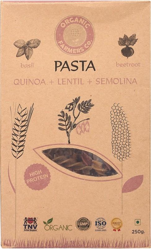 Organic Farmers Co Quinoa Semolina Lentil Pasta Fusilli Pasta(Pack of 2, 250 g)