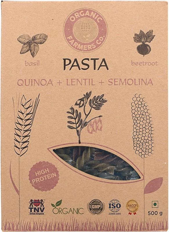 Organic Farmers Co Quinoa Semolina Lentil Pasta Fusilli Pasta(Pack of 2, 500 g)
