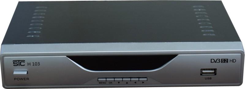 STC Mpeg-4 DTH HD Set Top Box H-103 (2 USB PORT + 1 HDMI PORT) LIFE TIME FREE Plug and Play Satellite Radio