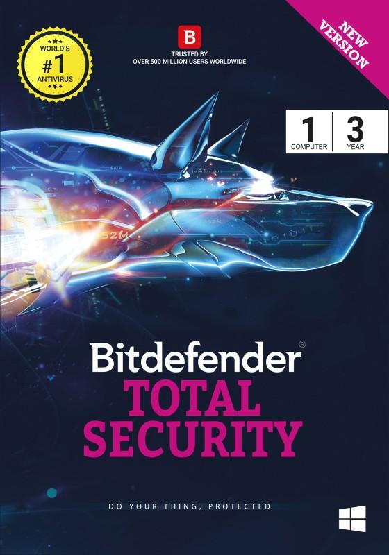 Bitdefender Total Security Latest Version - 1 Computer, 3 Years (Voucher)