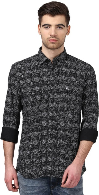 Parx Mens Printed Casual Slim Shirt