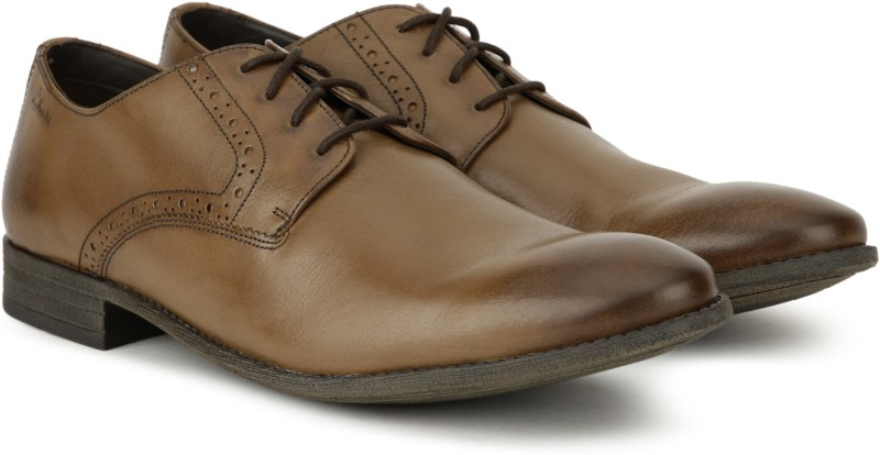 Clarks Chart Walk Tan Antique Lace up For Men(Tan)