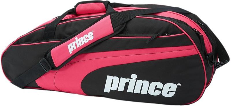 Prince Club 6 Pack Tennis Bag - Black/Pink Tennis Bag(Multicolor, Backpack)