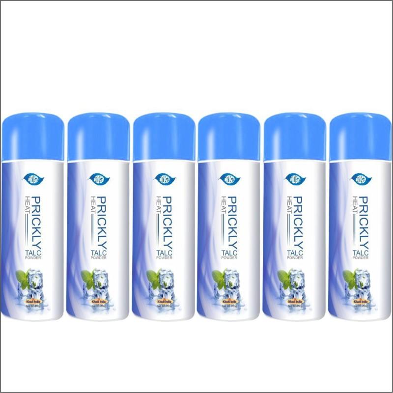 KHADI MEGHDOOT AYURVEDIC PRICKLY HEAT TALC POWDER 100G PACK OF 6(600 g)