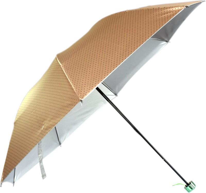 KEKEMI 3 Fold Designer Umbrella(Brown)