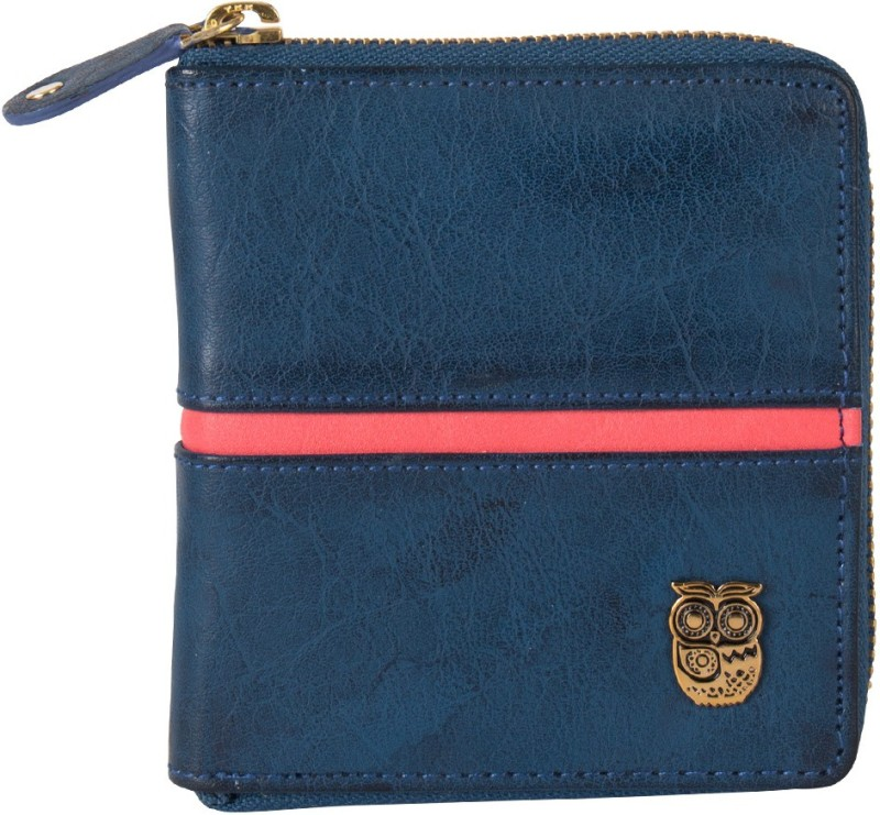 Chumbak Women Blue Canvas Wallet(6 Card Slots)