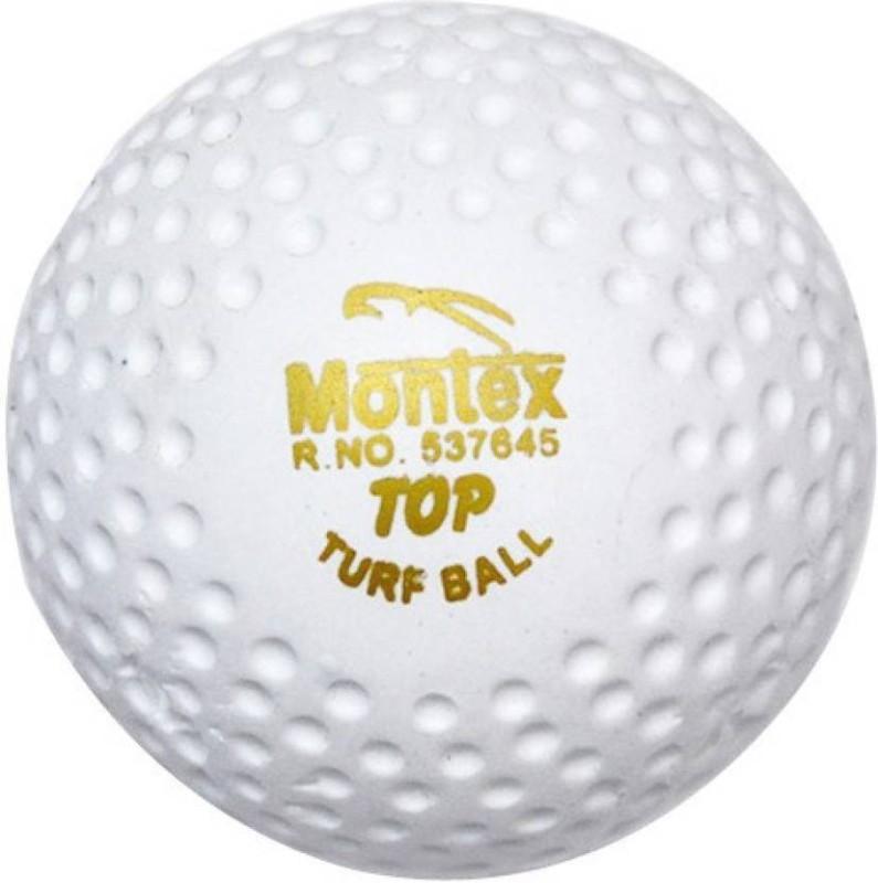 Montex Turf Ball Hockey Ball(Pack of 6, White)