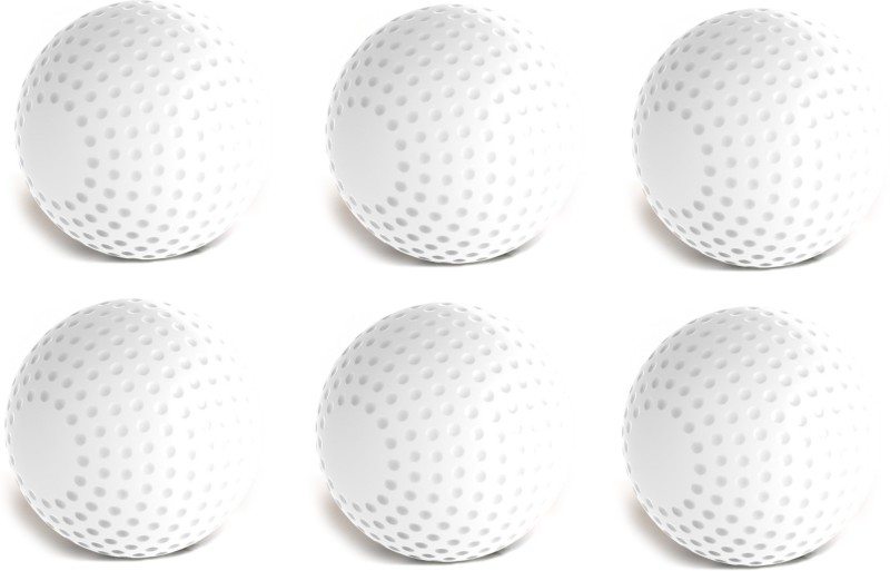 Tima Hockey Ball - Size: Standard  (Pack of 6, White) Hockey Ball - Size: 5(Pack of 6, White)