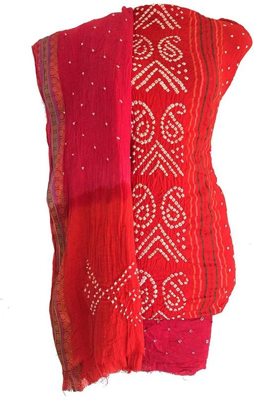 Dhartiethnic Cotton Silk Blend Self Design Salwar Suit Dupatta Material(Un-stitched)