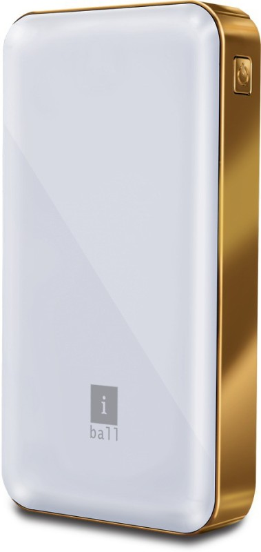 Iball 1200 Power Bank (PLM-12100 White, 12000mAH With Dual USB Ports)(White, Lithium Polymer)