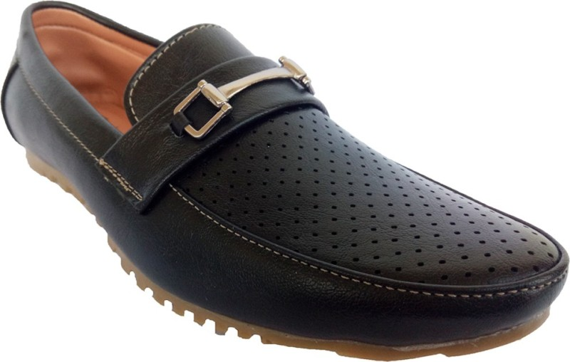 Indcrown Boys Slip on Loafers(Black)