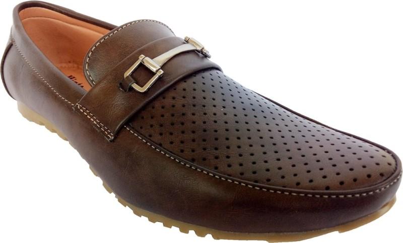 Indcrown Boys Slip on Loafers(Brown)