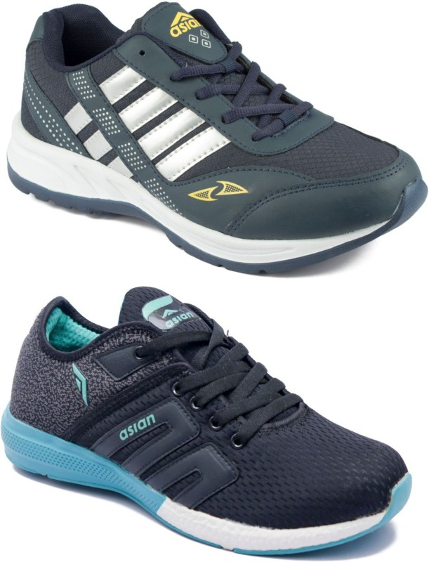 Asian Men Casual & Running Shoes Combo Pack of 2 Running Shoes For Men(Multicolor)