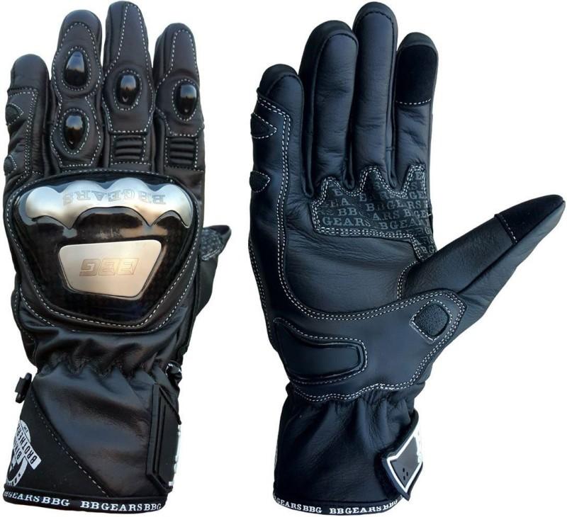 biking brotherhood Semi Gauntlet Black M Riding Gloves (M, Black)