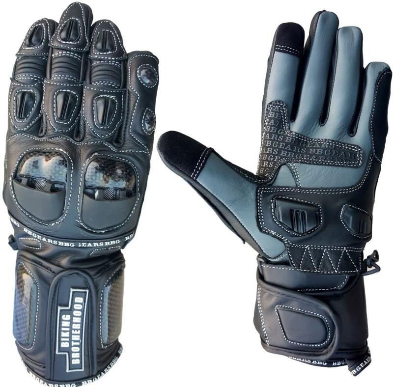 biking brotherhood Full Gauntlet Black L Riding Gloves (L, Black)