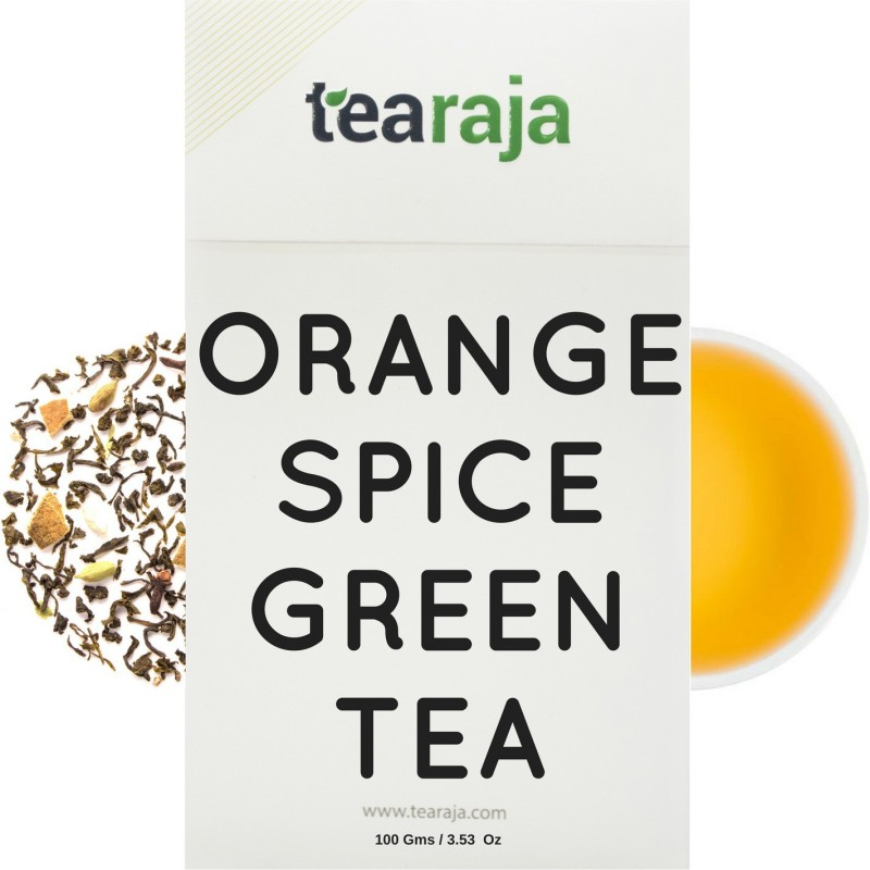 Tearaja Orange Spice Green Tea Spices Green Tea(100 g, Vacuum Pack)