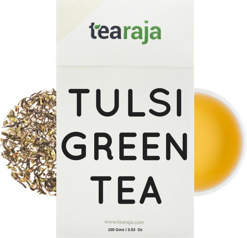 Tearaja Tulsi Green Tea Tulsi Green Tea(100 g, Vacuum Pack)