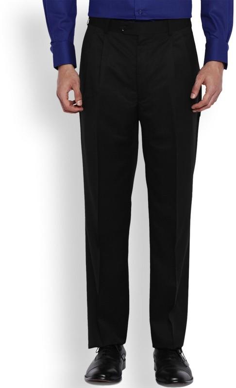 Park Avenue Regular Fit Mens Black Trousers