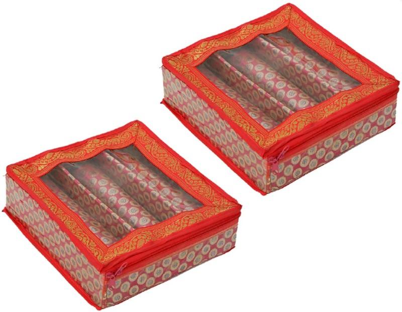 Kuber Industries Bangle Box In Velvet Hard Board Material Set of 2 Pcs (Single Roll+2 Roll) (Code-COM004) Jewellery Vanity Box(Multicolor)