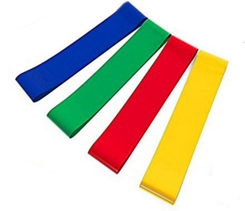 CSU 4 Levels - Latex Loop Resistance Bands Silicone Yoga Strap(Multicolor)