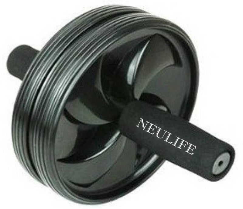 Neulife Unisex Ab Abdominal Roller For Home & Gym Workout Equipment to assist Sit Up Exercise Equipment Ab Roller Ab Exerciser(Black)
