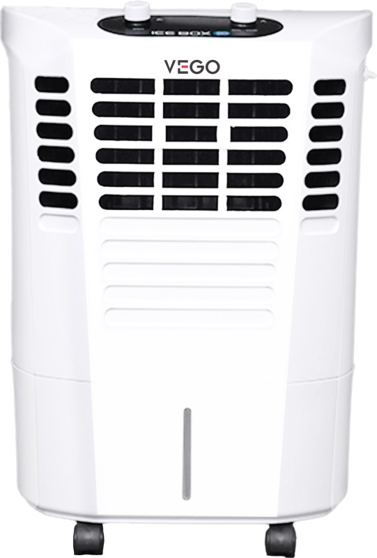 Vego 22 L Room/Personal Air Cooler(White, Ice Box 3D)