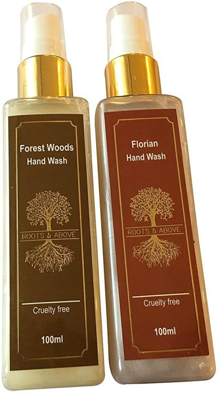 Roots and Above Forest Woods Natural Hand Wash, (100 ml) and Florian Natural Hand Wash Bottle(2 x 50 ml)
