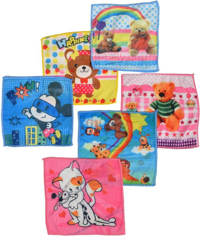 Crux & Hunter teddy Handkerchief(Pack of 6)