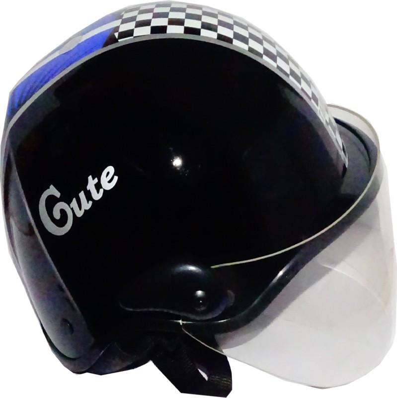 TARGET CUTE-HLF-1112 Motorbike Helmet(Black)