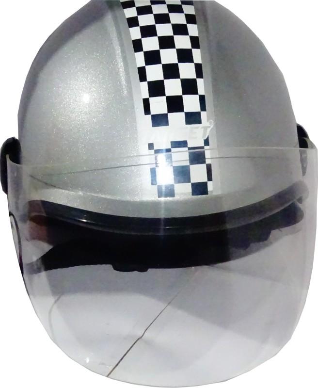 TARGET CUTE-HLF-1113 Motorbike Helmet(Silver)