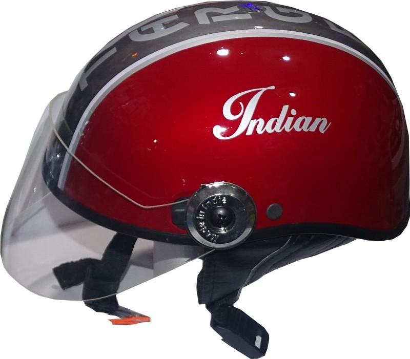 TARGET HLF-1110 Motorbike Helmet(Red)