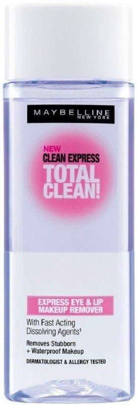 Maybelline New York Clean Express Total Clean Express Eye & Lip Makeup Remover Makeup Remover Makeup Remover(70 ml)