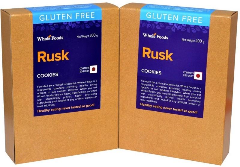 Whole Foods FK213 Vanilla flavored Milk Rusk(400, Pack of 2)