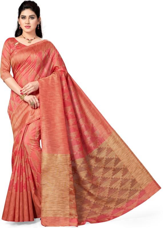 M.S.Retail Self Design Kanjivaram Silk Saree(Pink)