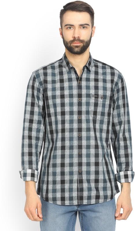 Wrangler Mens Checkered Casual Spread Shirt
