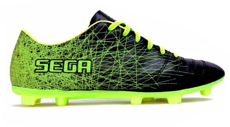 SEGA Premium Black Galaxy Football Shoes For Men(Black, Green)