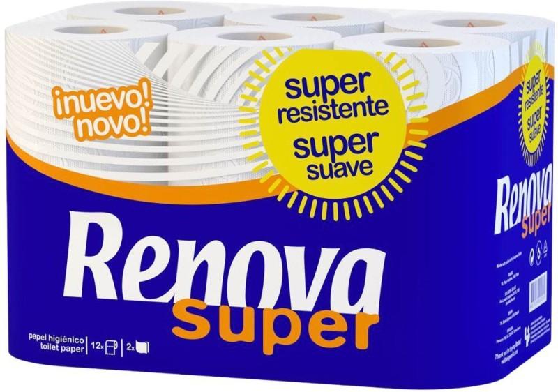 Renova Super Toilet Paper 12 Rolls (2 Ply) Toilet Paper Roll(2 Ply, 130 Sheets)